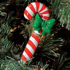 Porcelain Secret Hinged Ornaments-Candy Cane