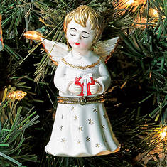 Porcelain Secret Hinged Ornaments-Angel