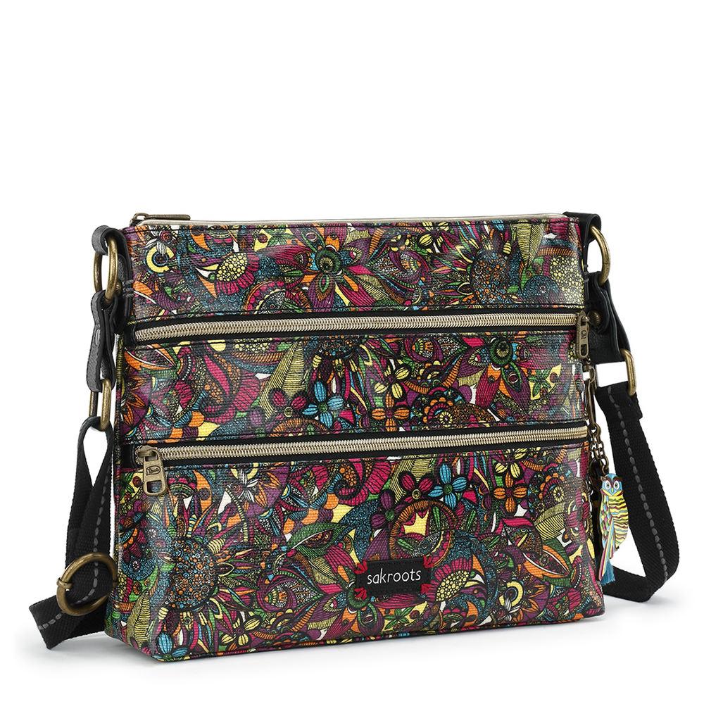 Sakroots Artist Circle Basic Crossbody Handbag Multi Bags