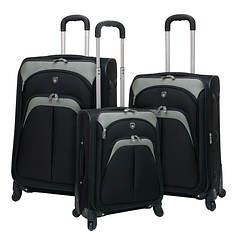 Travelers Club Lexington 3-Piece EVA Luggage Set