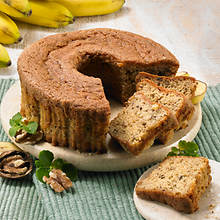 No Sugar Added Bundt Cakes - Banana Nut