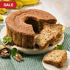 No Sugar Added Bundt Cakes - Banana Nut