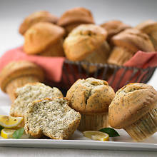 Sugar Free & No Sugar Added Muffins - Lemon Poppyseed