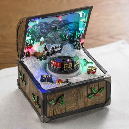 Christmas Train Music Box