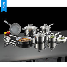 T-fal Precision Ceramic Stainless Steel 12-Piece Set