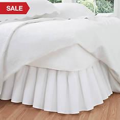 Ruffled Poplin Bed Skirt-White