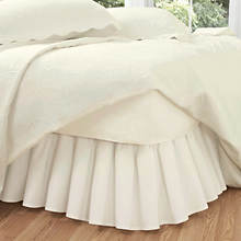 Ruffled Poplin Bed Skirt-Ivory