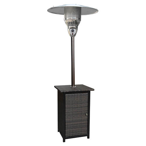 Hanover 7' LP Square Wicker Patio Heater