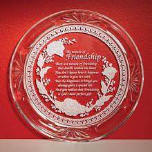 Crystal Friendship Plate