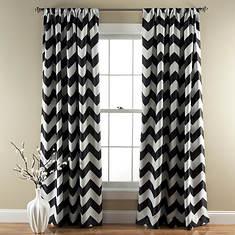 Lush Décor - Chevron Blackout Curtains