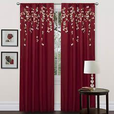 Flower Drops Curtain Panel