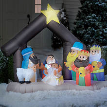 Inflatable Light-Up Nativity Set