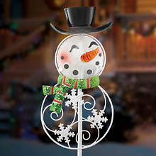 Christmas Solar Stakes - Snowman