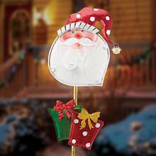 Christmas Solar Stakes - Santa