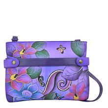 Anna by Anuschka Medium Crossbody with Front Gusset