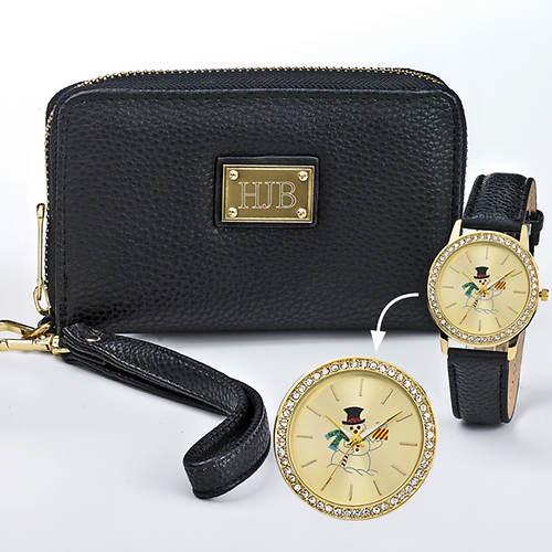 Personalized Christmas Wristlet Set & Watch