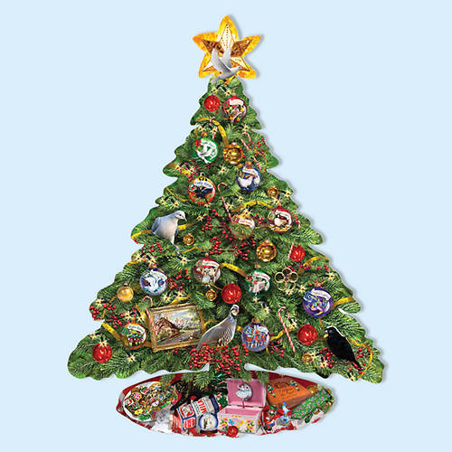 1000- Pc. Shaped Puzzle-Christmas Tree