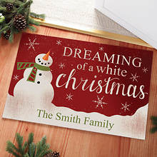 Personalized Dreaming of a White Christmas Doormat