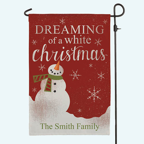 Personalized Dreaming of a White Christmas Flag