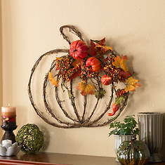 Harvest Splendors Pumpkin Wreath