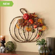 Harvest Splendors Pumpkin Wreath