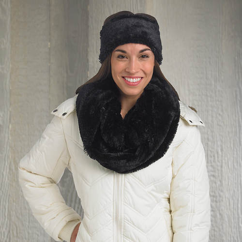 Plush Scarf with Head Warmer