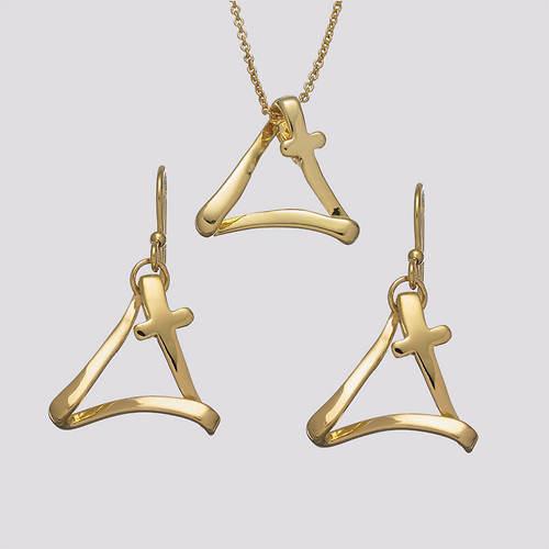 Cross of Trinity Necklace & Earrings