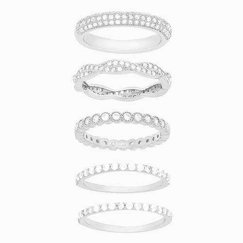 Sterling Silver Cubic Zirconia 5-Pc. Rings