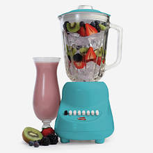 10 Speed Blender with Glass Jar-Blue