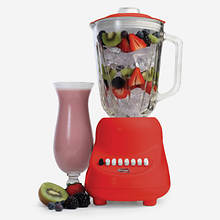 10 Speed Blender with Glass Jar-Red