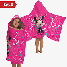 Hooded Character Towels-Minnie Mouse