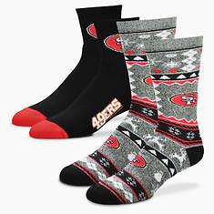 NFL 2-Pack Men's Socks-49ers