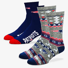 NFL 2-Pack Men's Socks-Patriots