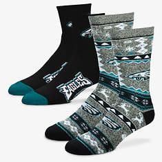 NFL 2-Pack Men's Socks-Eagles