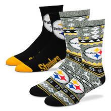 NFL 2-Pack Men's Socks-Steelers