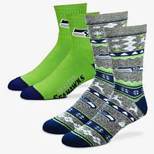 NFL 2-Pack Men's Socks-Seahawks