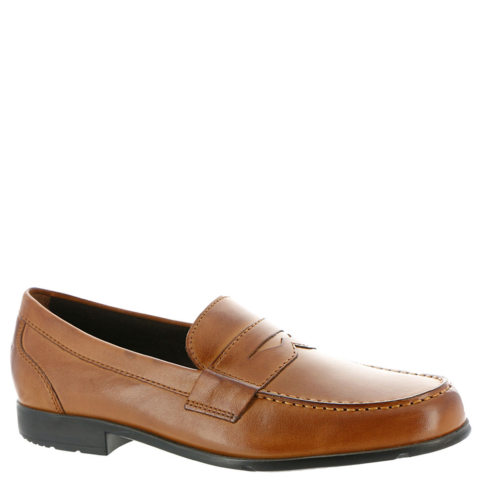 Mens Retro Shoes | Vintage Shoes & Boots Rockport Classic Loafer Lite Penny Mens Brown Slip On 9.5 M $109.95 AT vintagedancer.com