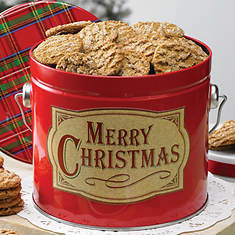 Gingersnap Cookies in Tin