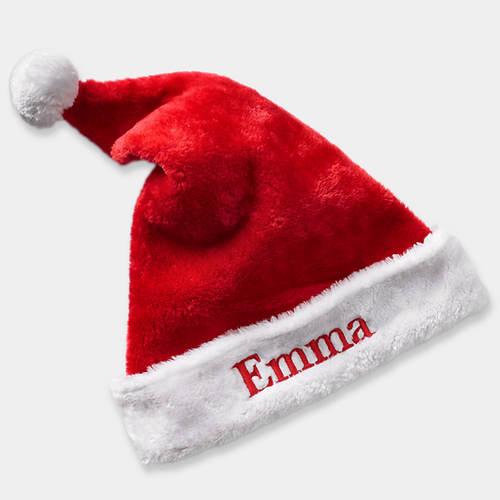 Personalized Plush Santa Hat
