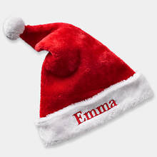 Personalized Plush Santa Hat