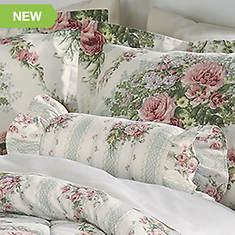Cottage Rose Neckroll Pillow