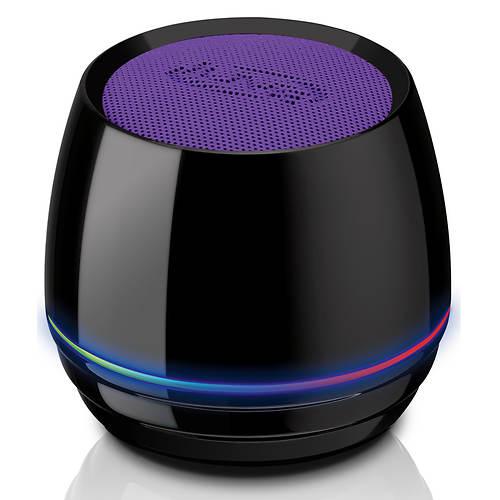 Ilive bluetooth wireless speaker round stoneberry for Ilive bluetooth speaker