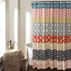 Lush Décor - Bohemian Stripe Shower Curtain