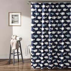 Lush Décor - Whale Shower Curtain