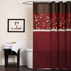 Lush Décor - Cocoa Flower Shower Curtain