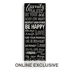 Family Rules Wall Canvas