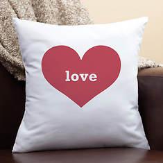 Red Heart Love Pillow