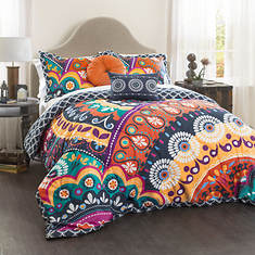 Maya Quilted 5-Piece Comforter Set