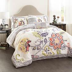 Lush Décor - Aster Quilt 5-Piece Comforter Set