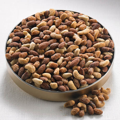 Hickory Smoked & Honey Roasted Nut Mix in Tin